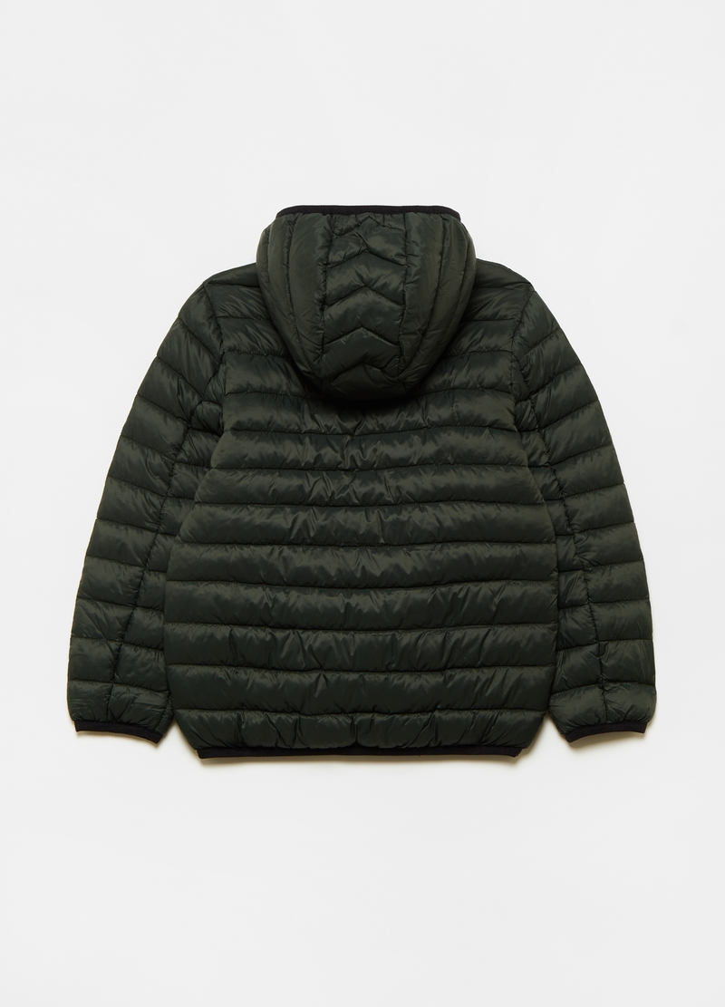 Quilted ultralight down jacket with high collar image number null