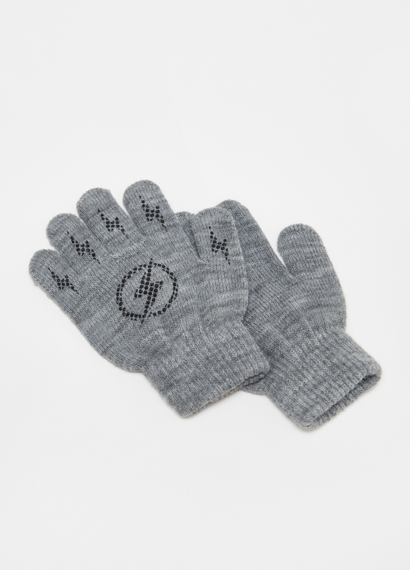 Stretch gloves with lightning print image number null