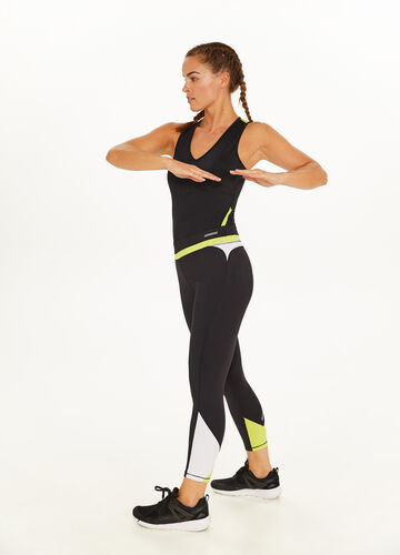 Stretch leggings with print and inserts