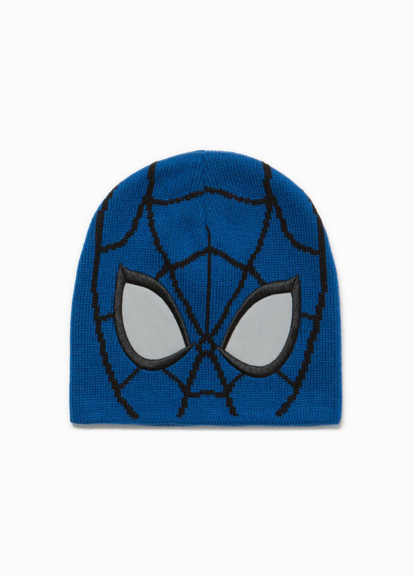 Knitted Spiderman beanie cap