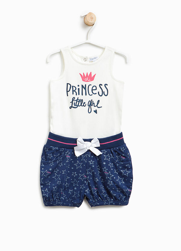 Sleeveless romper suit with star pattern | OVS