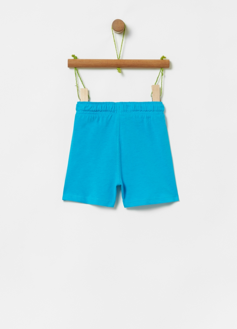 100% cotton shorts with drawstring image number null