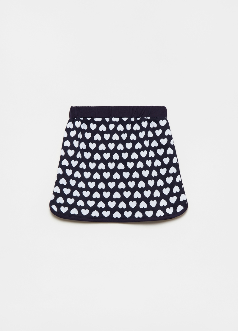 Miniskirt with hearts pattern image number null