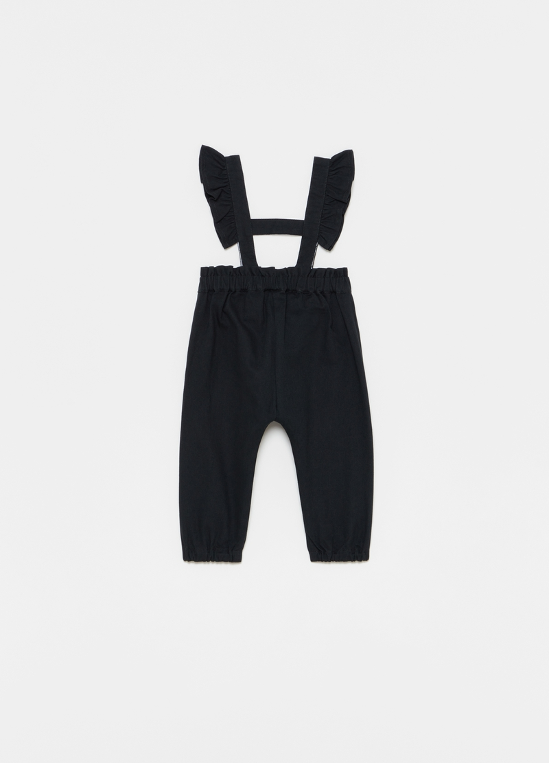 100% cotton dungarees with frills image number null