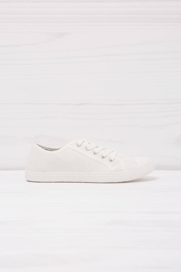 Solid colour low-rise sneakers.   OVS
