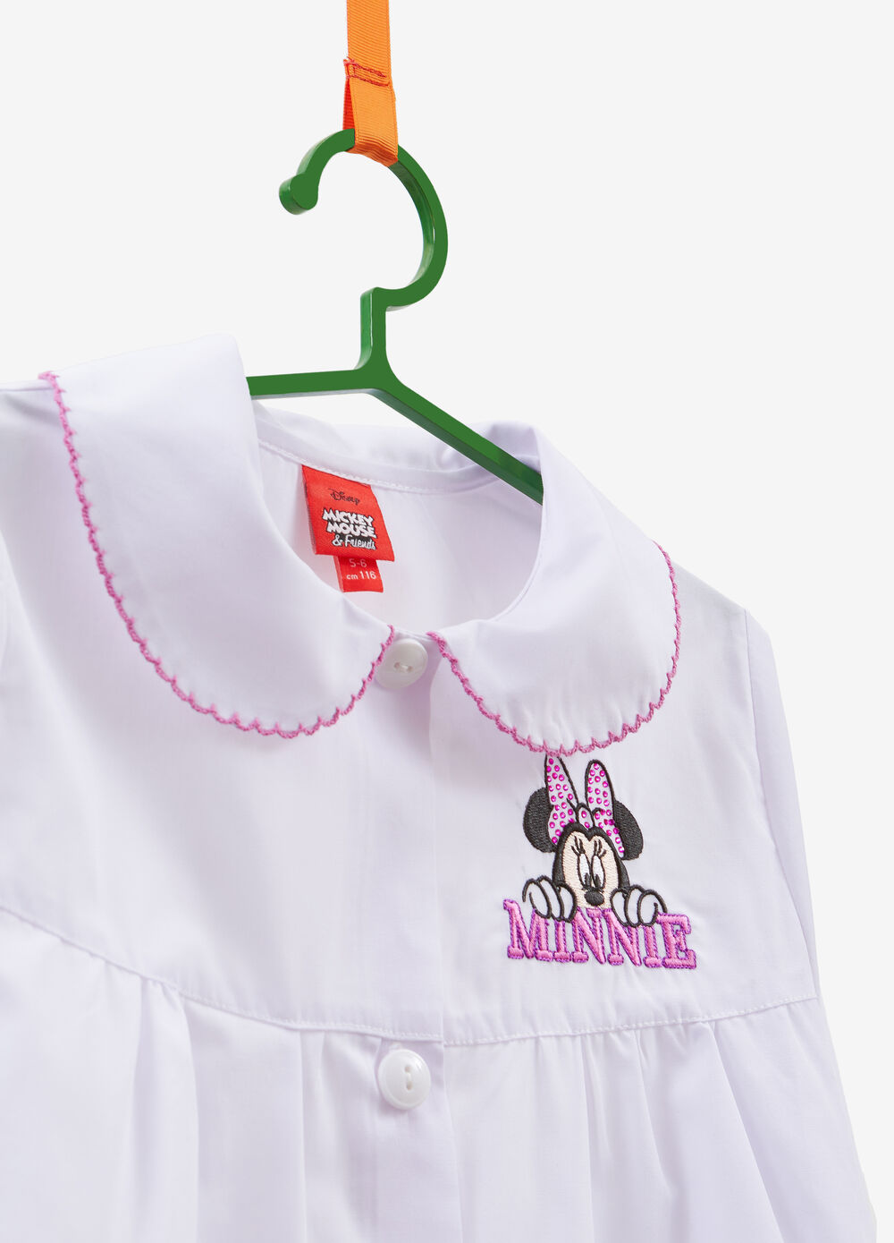 Cotton blend smock with Minnie Mouse