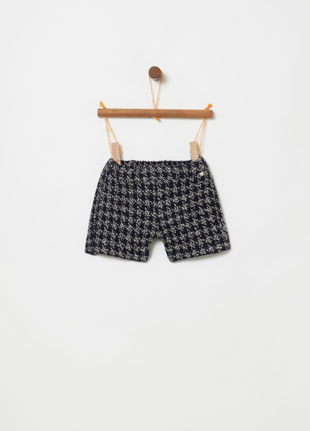 Shorts con fantasia pie de poule