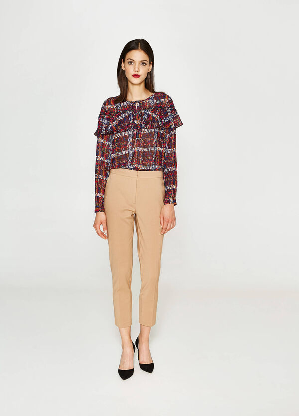Patterned shirt with flounce | OVS