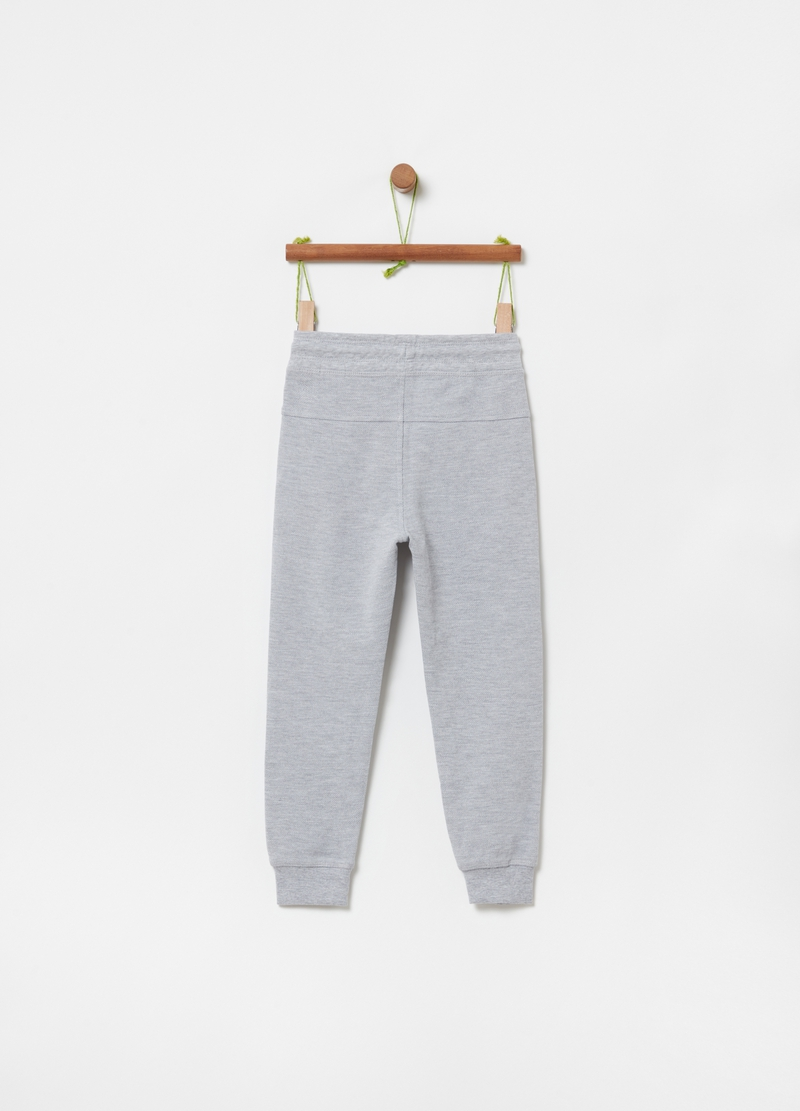 Organic cotton and viscose joggers image number null