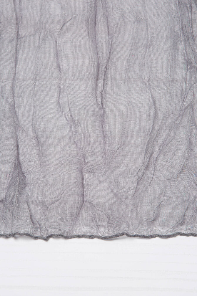 Crumpled effect fabric.