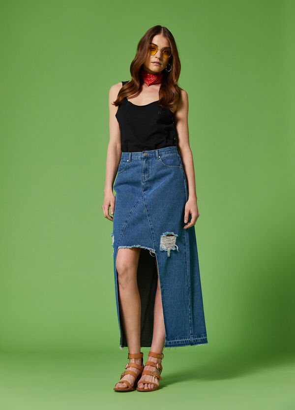 K+K for OVS denim longuette skirt