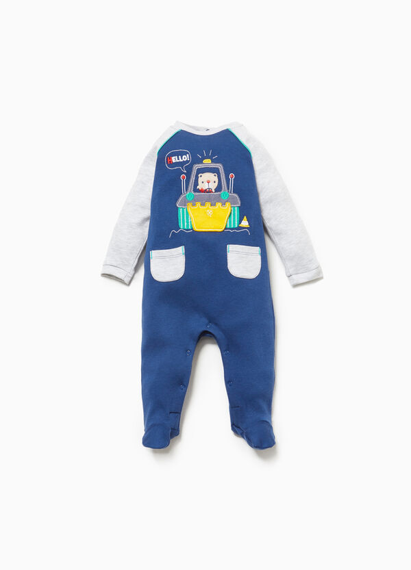 Onesie in 100% cotton with patches