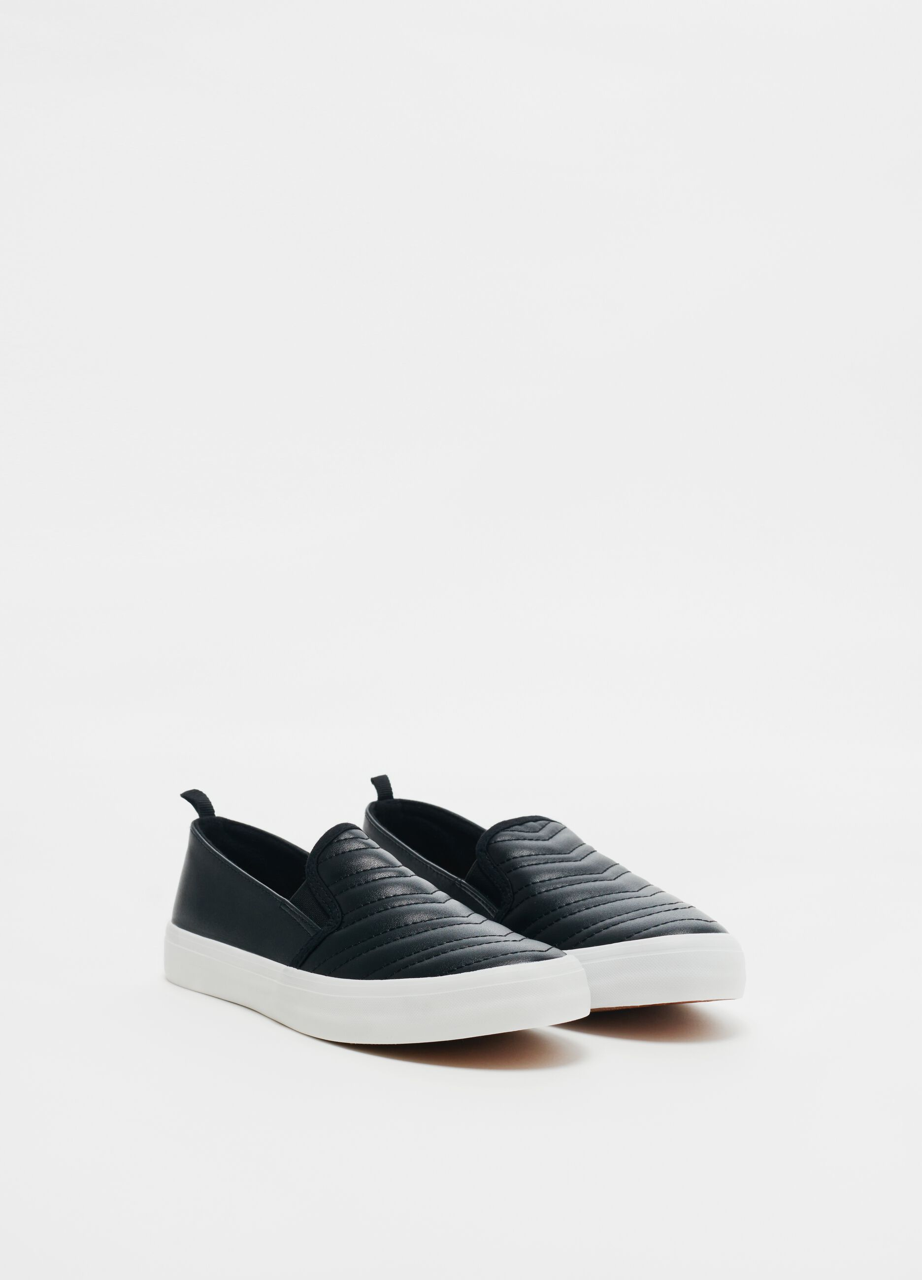 Quilted faux leather slip-ons | OVS