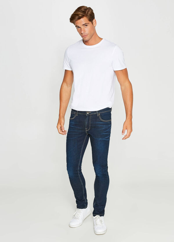 Jeans skinny fit stretch con baffature