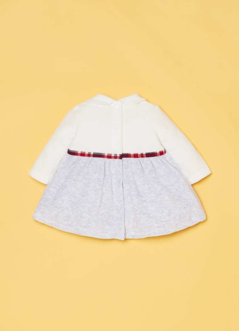Dress with belt and frills image number null