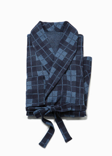 100% cotton tartan dressing gown