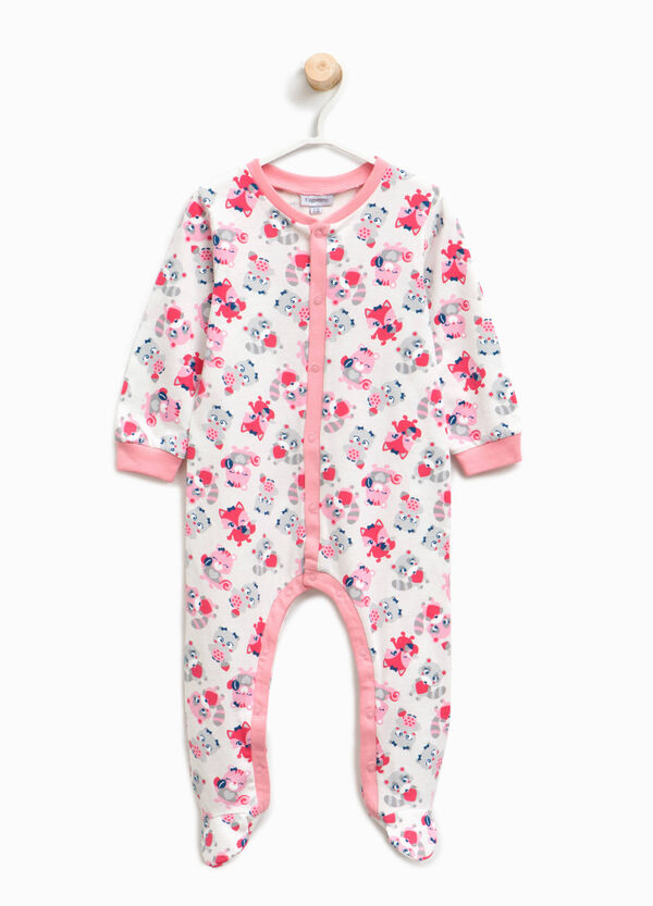 Organic cotton sleepsuit with animals | OVS