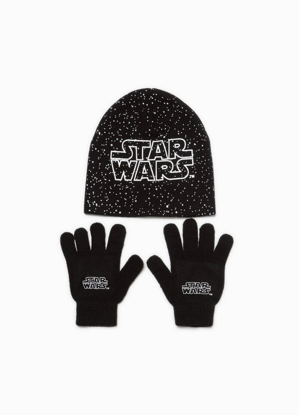 Star Wars beanie cap and gloves set