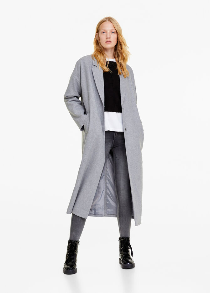 Long coat with lapels