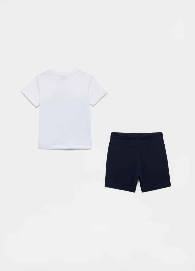 T-shirt and shorts jogging set with print image number null