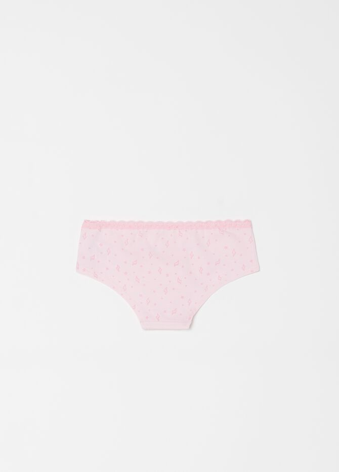 Stretch organic cotton French knickers with animals