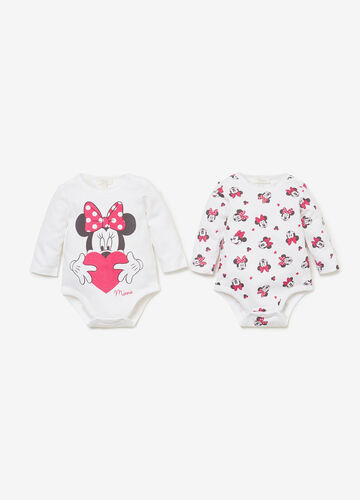 Two-pack BCI cotton Minnie Mouse bodysuits