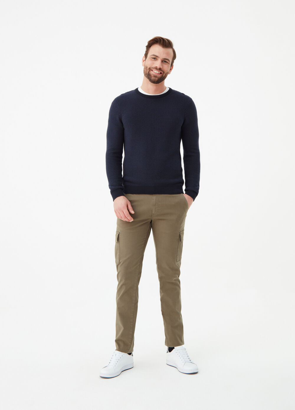 Pantaloni cargo slim fit stretch