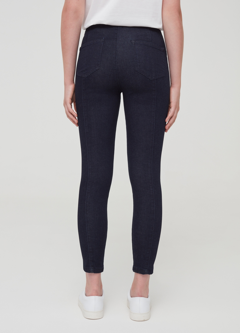 Stretch jeggings with splits image number null