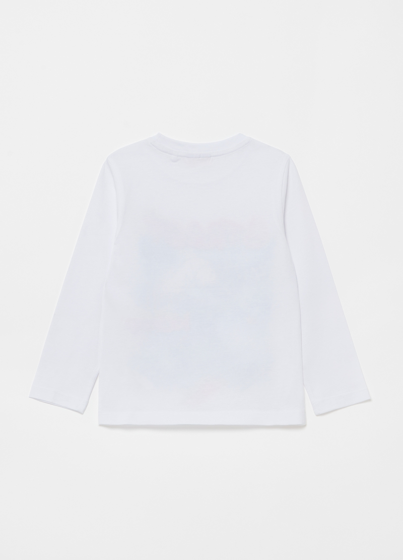 T-shirt maniche lunghe stampa skater image number null