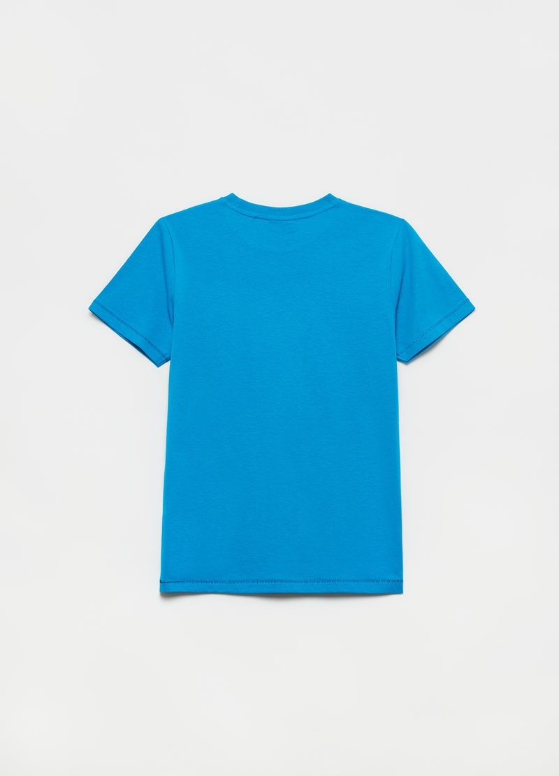 T-shirt with round neck and logo image number null