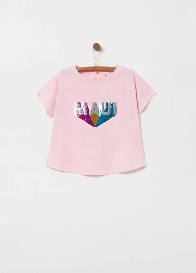 100% cotton T-shirt with diamantés by Maui and Sons