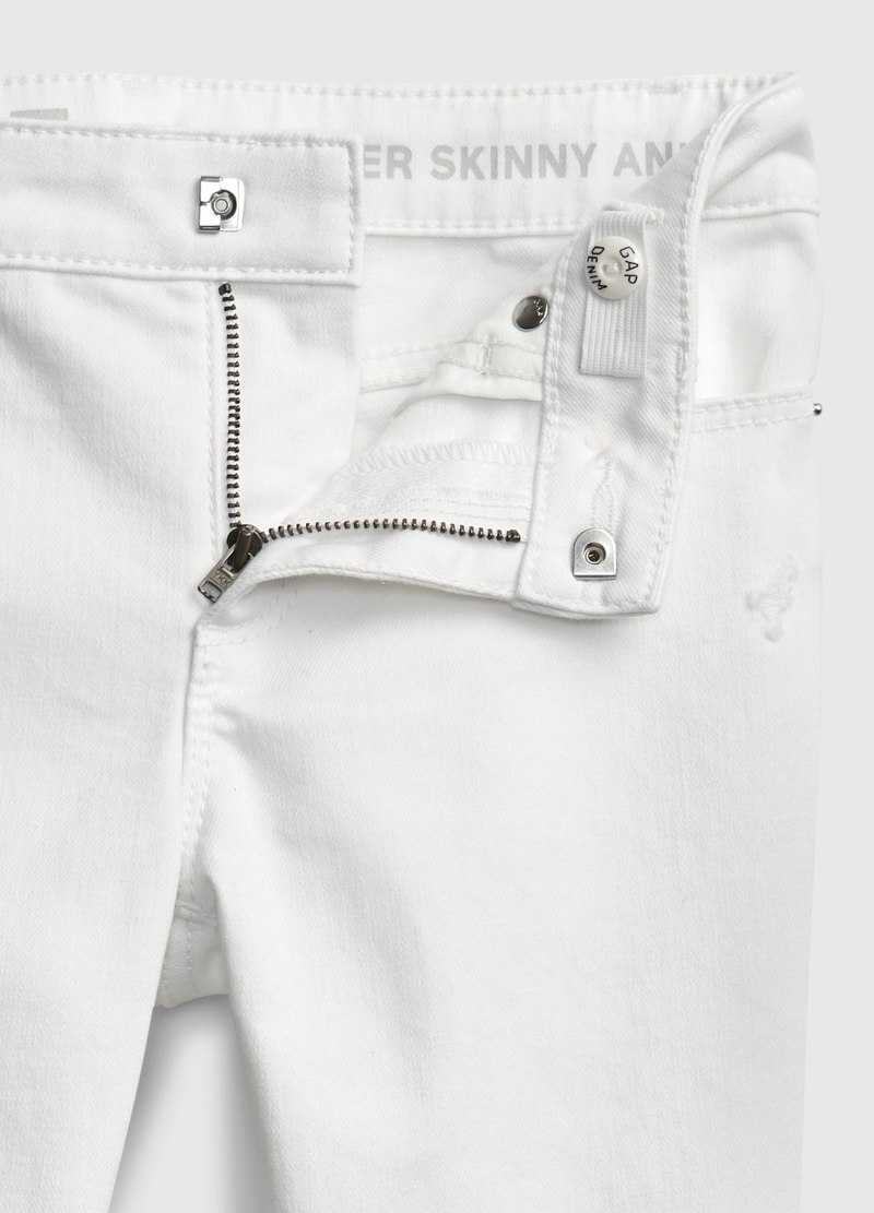 GAP stretch jeans with rips image number null