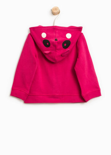 Hoodie with animal patches and diamantés