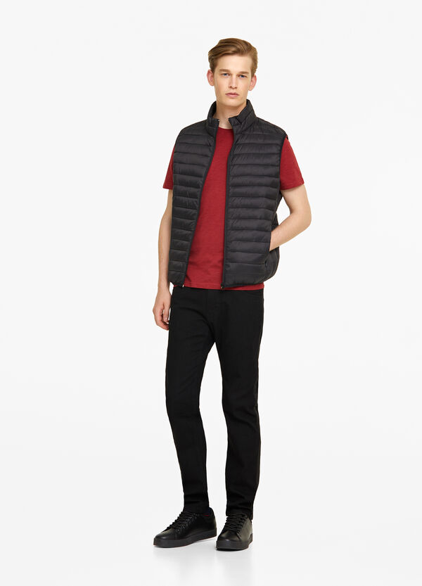 Solid colour ultralight gilet