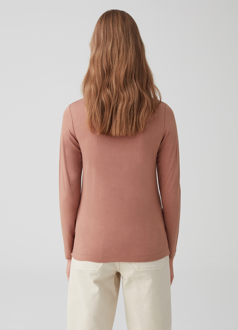 Stretch T-shirt with long sleeves image number null