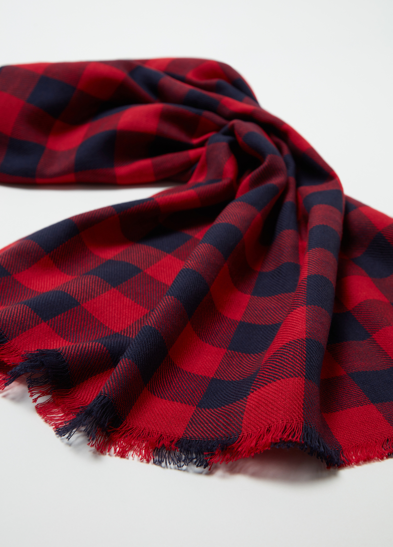 Yarn-dyed cotton jacquard scarf image number null