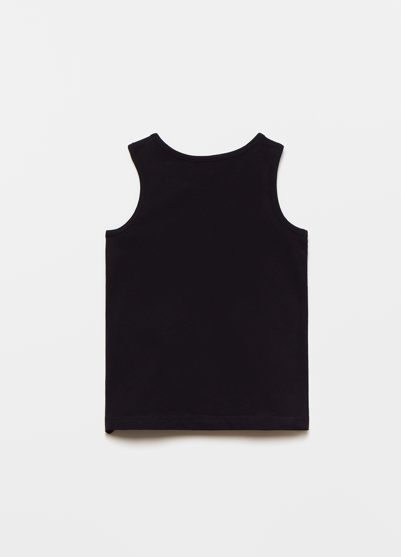 Tank top with flower print image number null