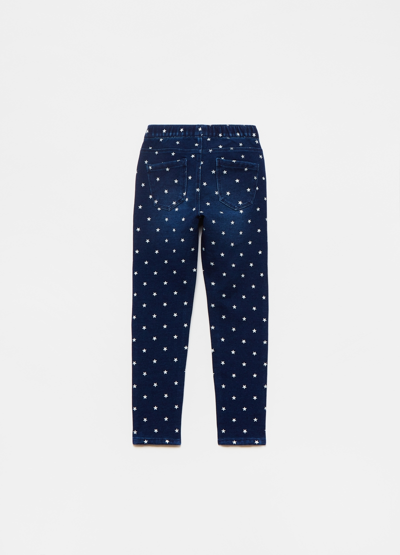 Jeggings stretch stampa stelline all-over image number null