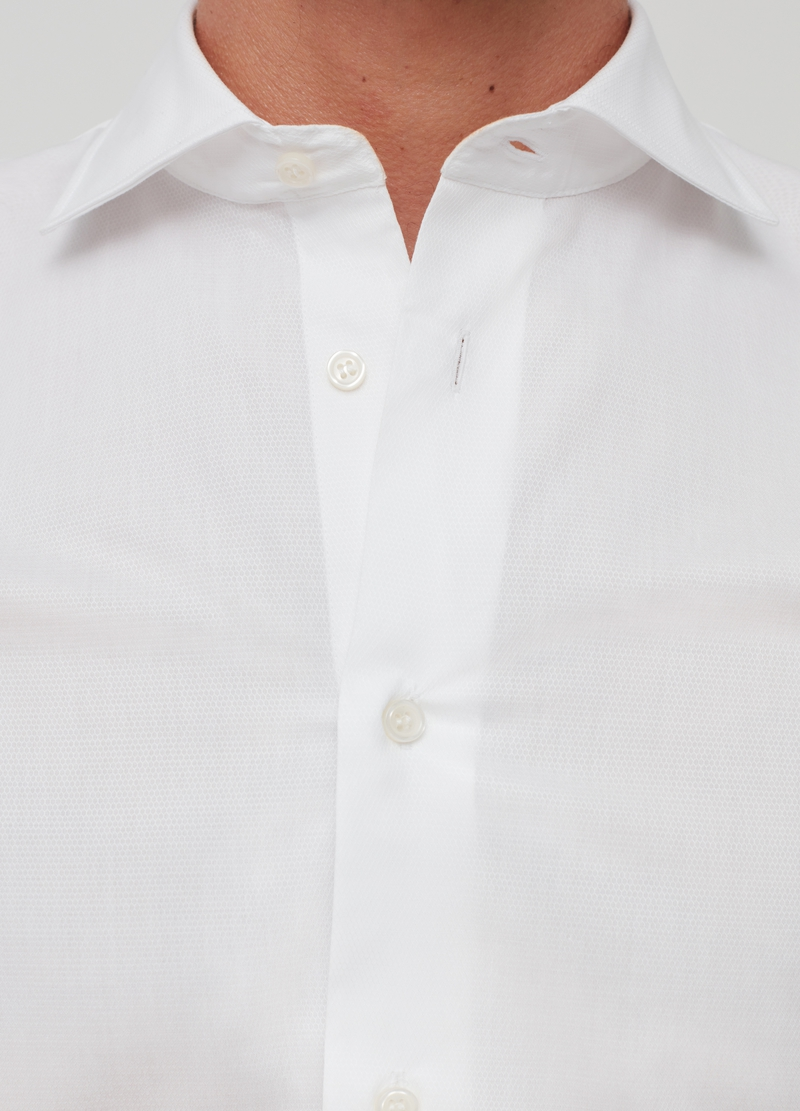 Camicia regular fit puro cotone dobby image number null