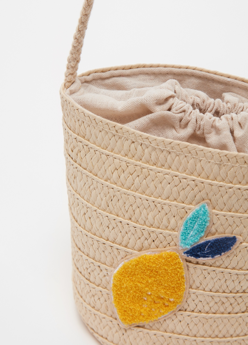 Straw bucket bag image number null