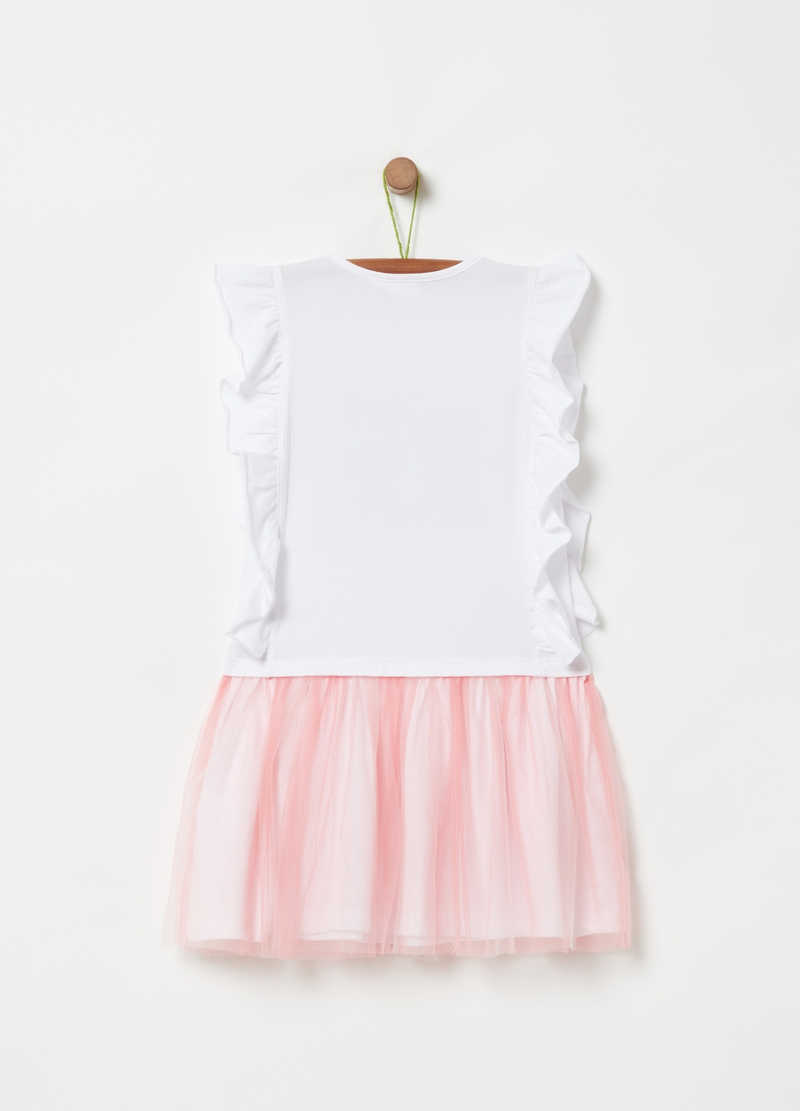 Dress with frills and LOL print image number null