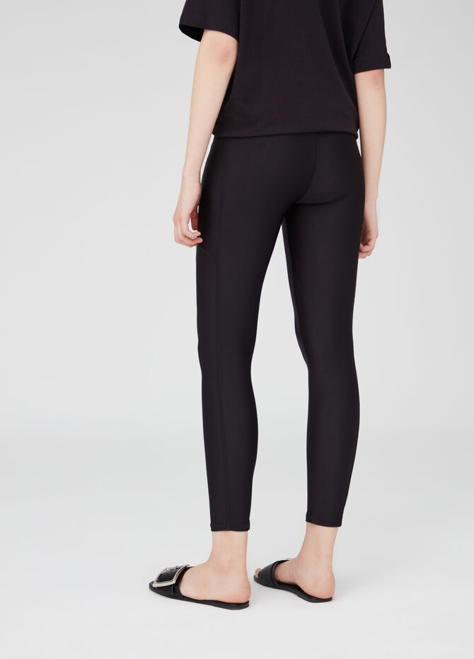 Stretch leggings with elasticated waist