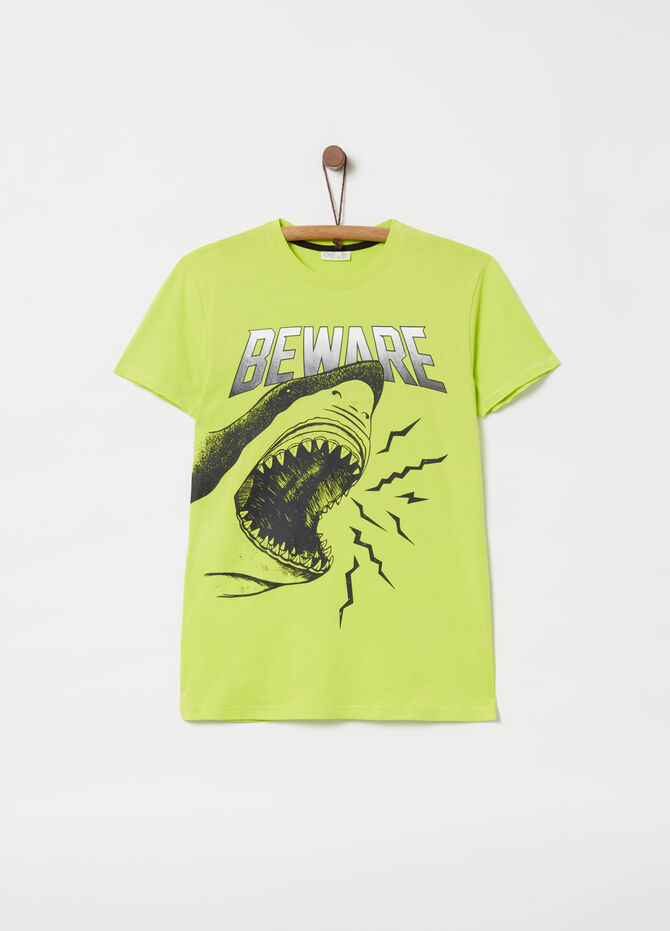 100% cotton T-shirt with whale print