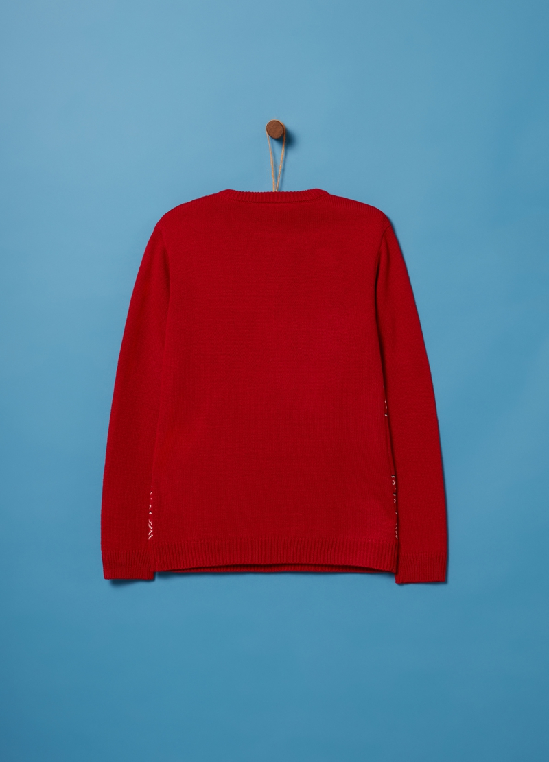 Knitted Christmas jumper with round neck image number null