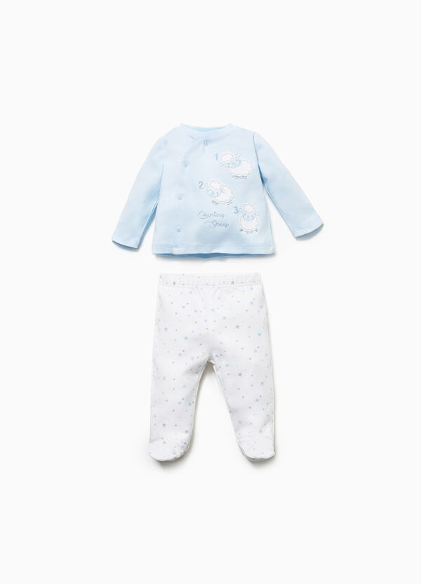 Sheep T-shirt and baby leggings set