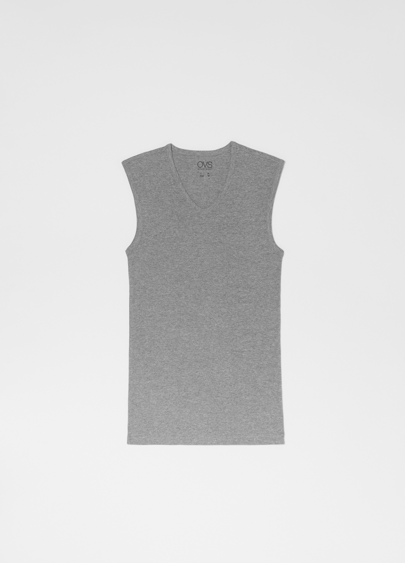 Organic cotton and viscose vest image number null