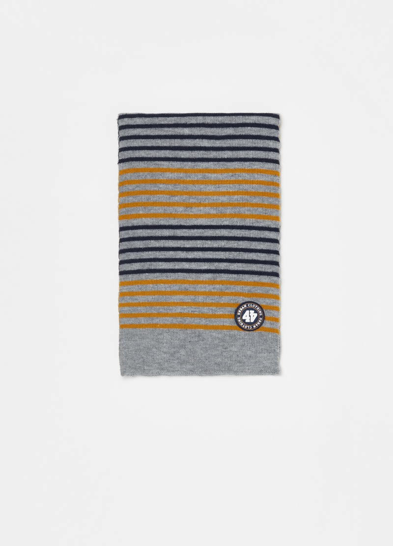 Striped jacquard scarf image number null