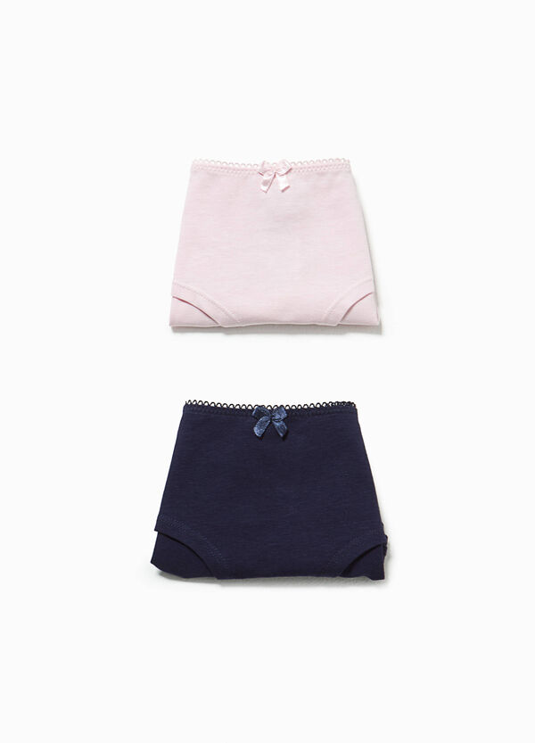 Two-pack stretch cotton French knickers | OVS