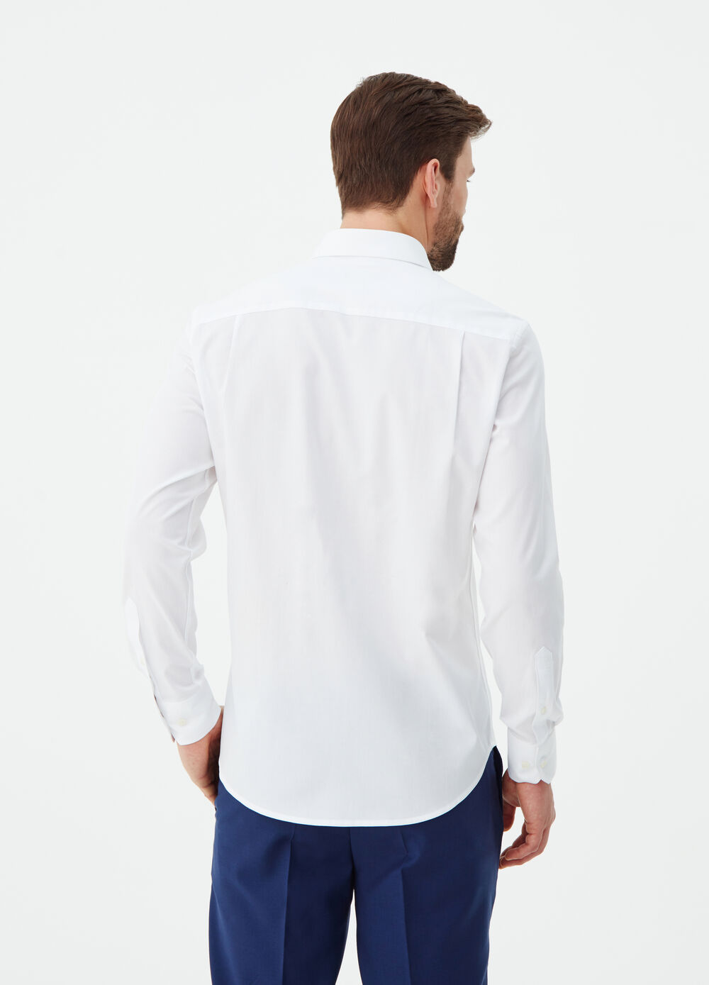 Regular-fit shirt in compact cotton