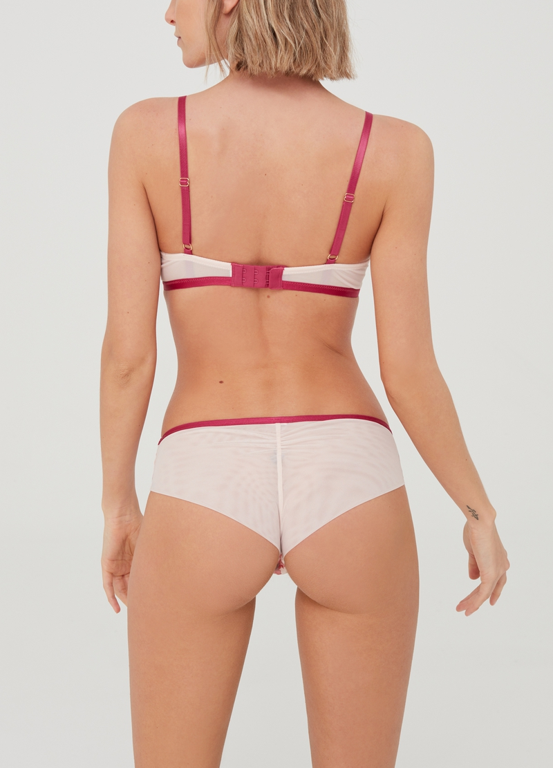 Floral mesh Brazilian-cut briefs image number null